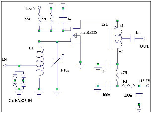 схема n x BF998 (это также