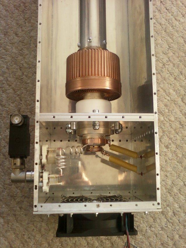 РА  на144мгц по чертежу UX1AS на лампе ГС-35б