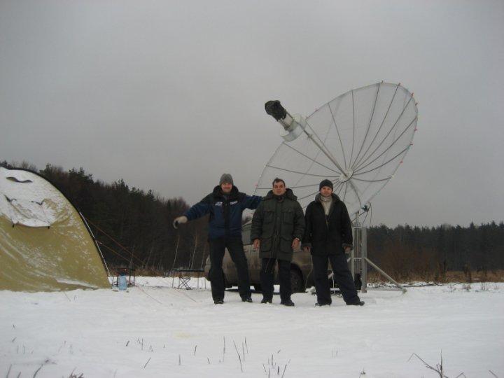 ARRL-EME-TEST-2007 Field Expedition UA3DJG Team